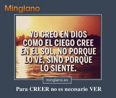FRASES de CREER en DIOS