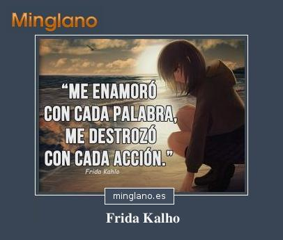 FRASES de DESAMOR de FRIDA KAHLO
