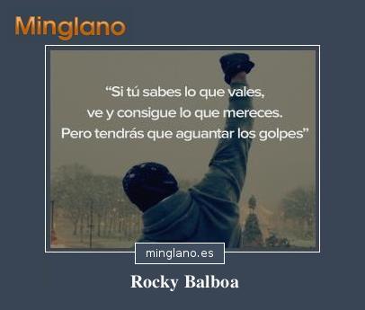 FRASES de ROCKY BALOBOA a su HIJO