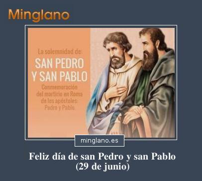 FRASES para el DÍA de SAN PEDRO y SAN PABLO