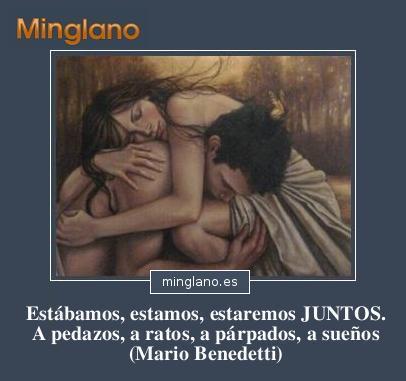 FRASES ROMÁNTICAS de MARIO BENEDETTI
