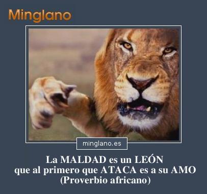 PROVERBIOS sobre los LEONES y la MALDAD