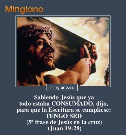 Quinta frase de Jesús en la cruz