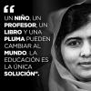FRASES de MALALA YOUSAFZAI sobre la EDUCACIÓN