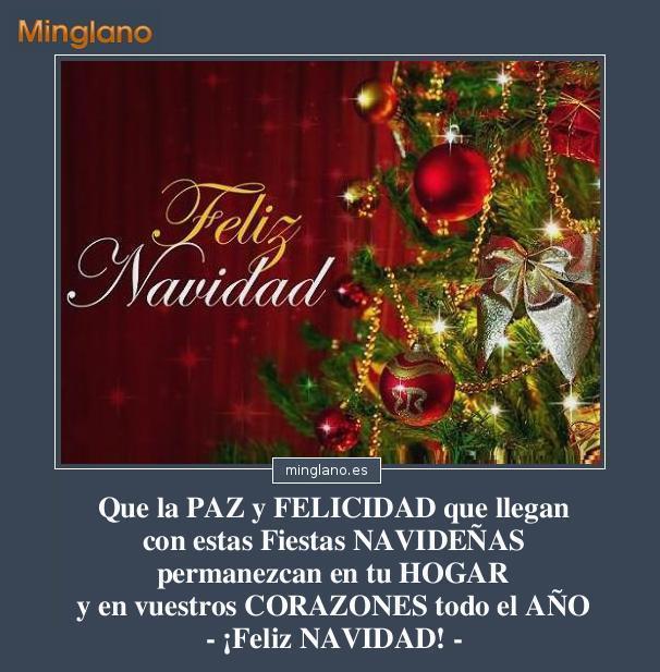 Felicitaciones navidad para familia