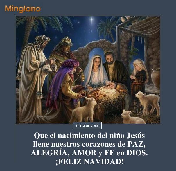 Frases de navidad nacimiento del nino dios
